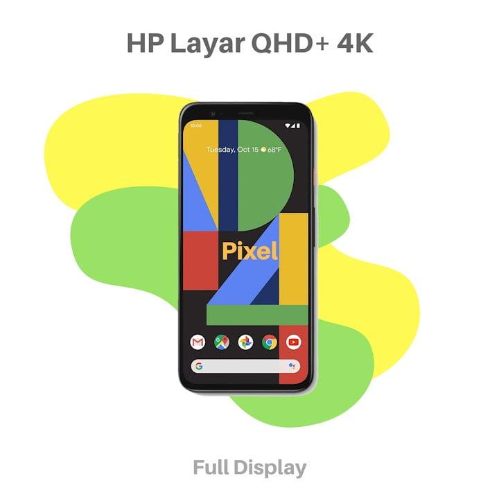 HP Layar QHD Plus 4K Google Pixel
