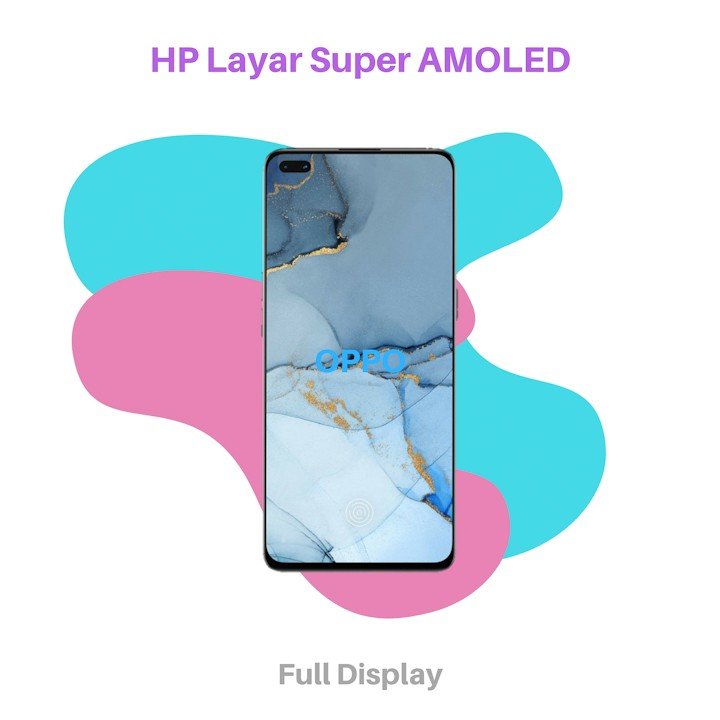 HP Layar Super AMOLED OPPO