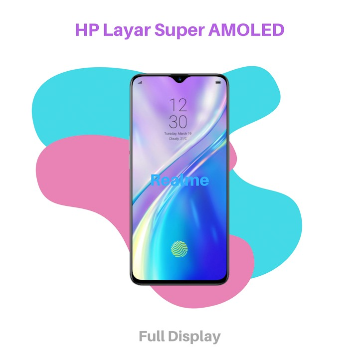 HP Layar Super AMOLED Realme