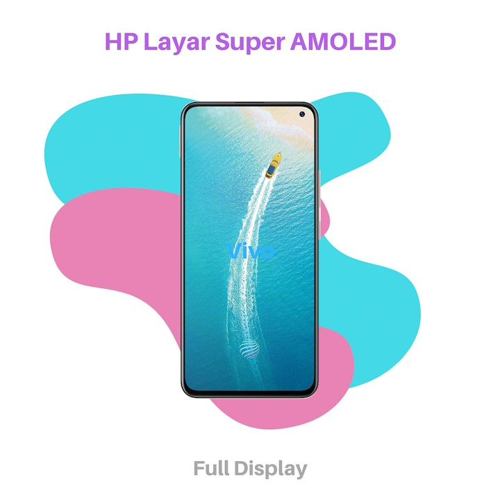 HP Layar Super AMOLED Vivo