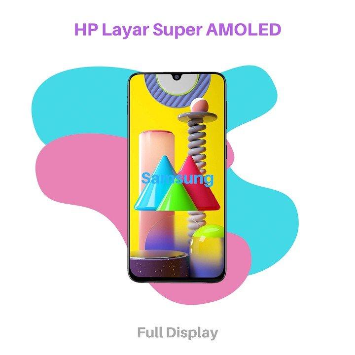 HP Layar Super AMOLED Samsung